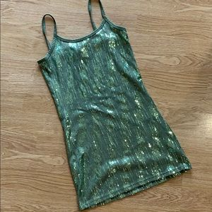 Green sequin tank from Buckle